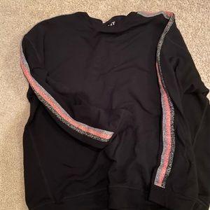 Velvet sweatshirt and sweatpants